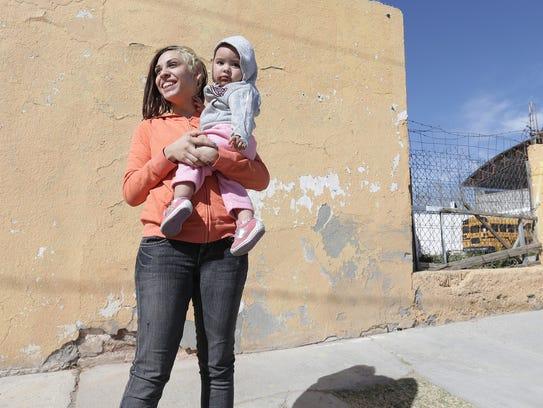 Juarez resident Melina Garica Renteria lives only one