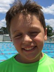 Red River Aquatic's swimmer Pierce Kairschner