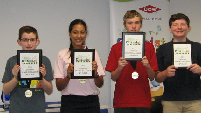 Winners pictured from left to right: Kyle Wright, 3rd Place; Arunia Sambandam, 2nd Place; Linus Wise, Champion; Wesley Mills, 4th place.