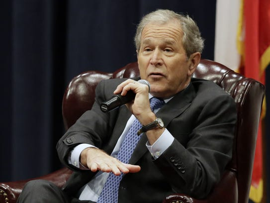 Former President George W. Bush discusses his new book