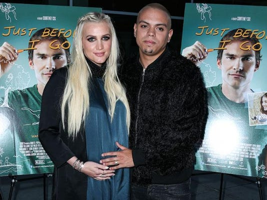 Ashlee Simpson Ross and Evan Ross