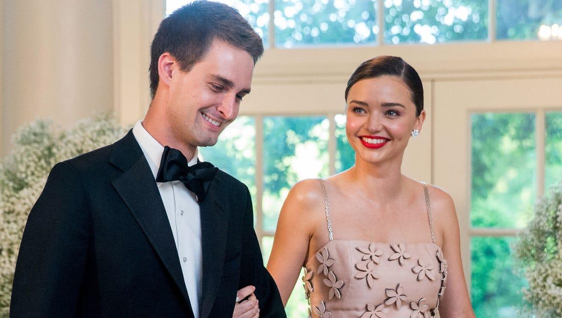 Reports: Miranda Kerr marries Snapchat founder Evan Spiegel