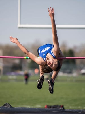 Harper Creek sophmore Charley Andrews leads area girls in the high jump with a season-best leap of 5-feet, 5-inches.
