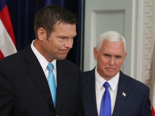 Kansas Secretary of State Kris Kobach and Vice President