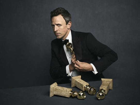 NBC's 'Late Night' host Seth Meyers will preside over Sunday's 75th annual Golden Globe Awards.