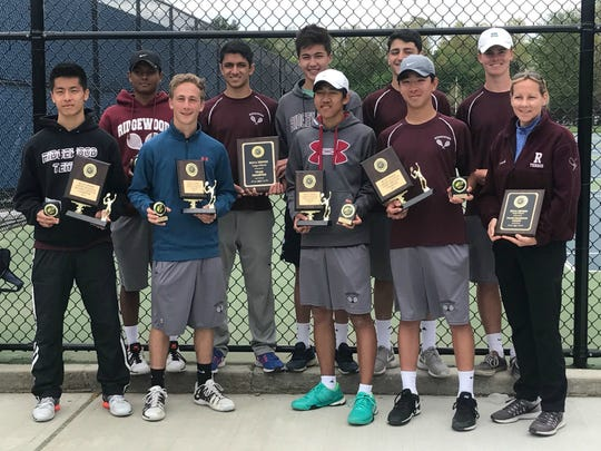 Ridgewood earned a share of the Bergen County large school tennis championship.