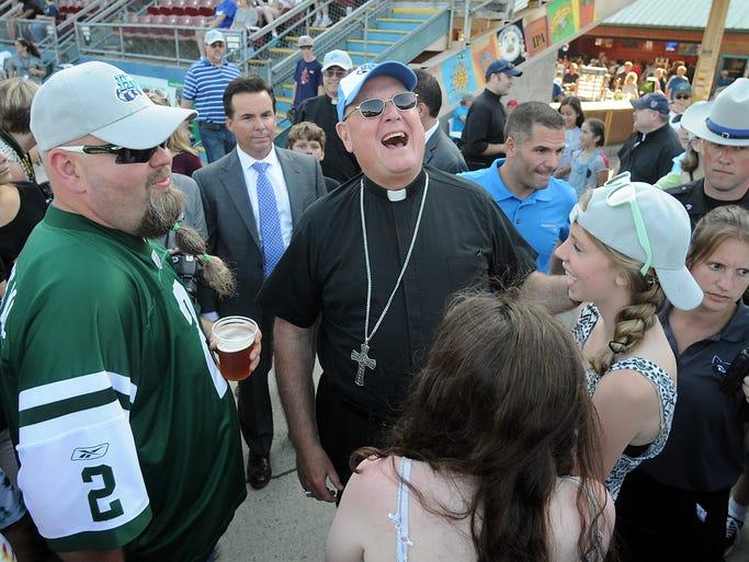 Timothy Cardinal Dolan visits Dutchess Stadium on Catholic School Night as the Hudson Valley Renegades host the Brooklyn Cyclones on Tuesday in Fishkill. @DBatPojo