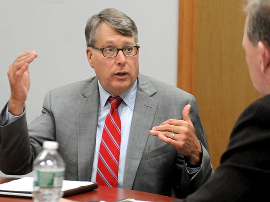Steve Lant, CEO of CH Energy Group Inc. and Central Hudson Gas & Electric Corp., met with the Poughkeepsie Journal Editorial Board on Aug. 26 to discuss a range of issues.