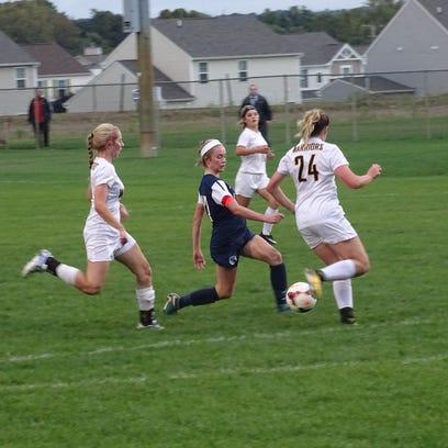 Granville girls soccer stars shine bright in win at Watkins Memorial