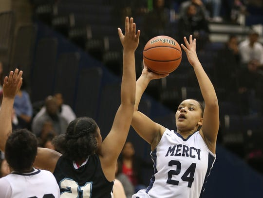 Traiva Breedlove, a senior guard who has helped Mercy