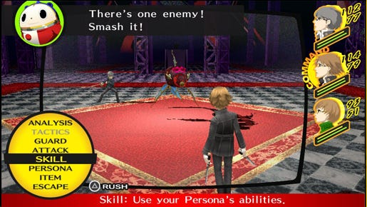 'Persona 4 Golden,' the better-looking PS Vita enhancement of 'Shin Megami Tensei: Persona 4' on the PlayStation 2.