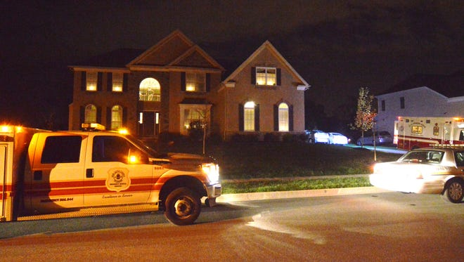Emergency officials respond to a death early Thursday in Red Lion.