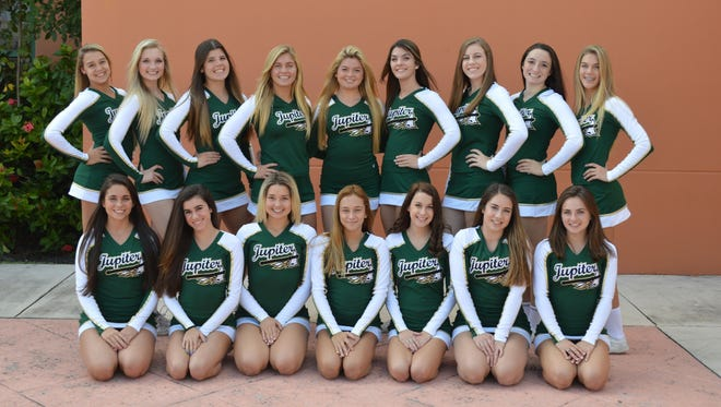 The Jupiter High School Warriors are the highest scoring high school competitive cheerleading team in Palm Beach County.