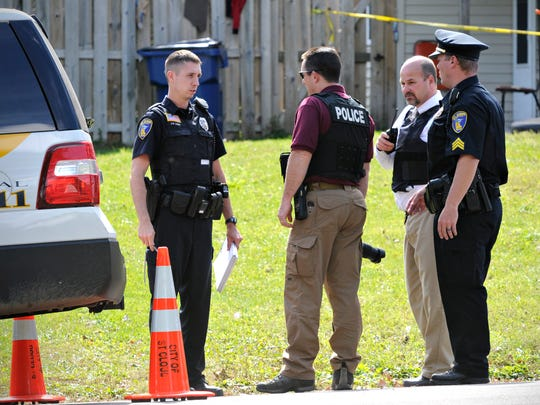 St. Cloud Police closed off the area around 750-13th Street S while they investigated a shooting around 1 p.m. Tuesday.