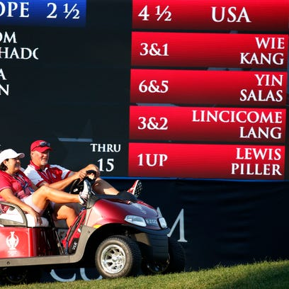 The scoreboard told the story Friday: The United States
