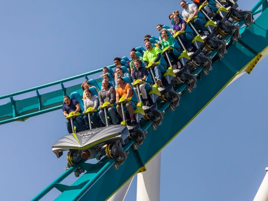 The Fury 325 roller coaster opened in 2015 at Carowinds.