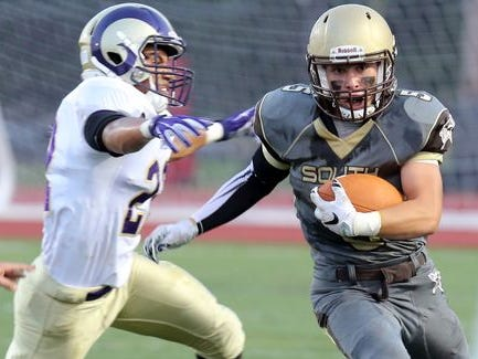 Clarkstown South and Clarkstown North met on Sept. 4, 2015. They will play against in the Class AA quarterfinals.