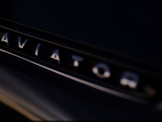 Lincoln is offering this peek at the look of its Aviator SUV