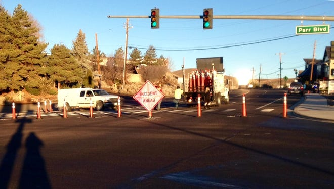 Reno police closed off North Virginia Street and Parr Boulevard after a fatal accident early Monday morning.