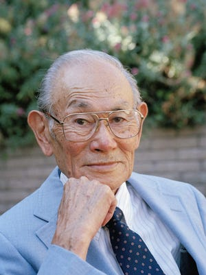 Fred Korematsu at his home in San Leandro, Calif. Wednesday, Aug.14,1996. Korematsu will travel to Harbor Beach, Mich. for the Aug. 16, 1996 celebration of the 1944 Supreme Court case Korematsu v. United States in which the court upheld the ultimate internment of Japanese Americans in detention camps.  (AP Photo/Robin Weiner)