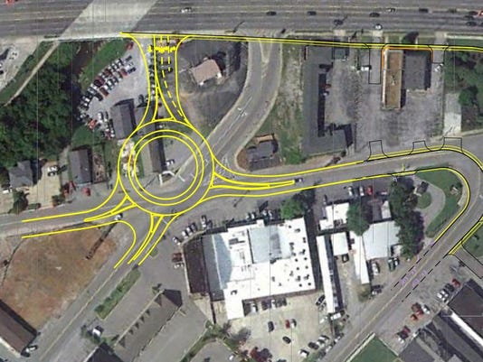 Lytle Street roundabout