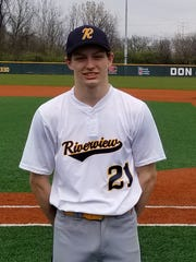 Cole Thomasson of Riverview East was voted Ohio baseball