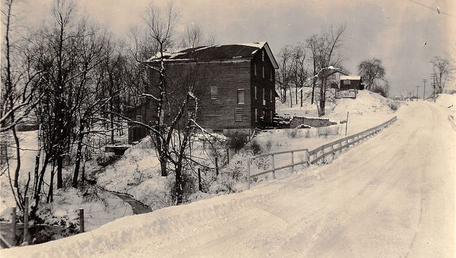 An early view of the Franklin Cider Mill in Bloomfield Township.