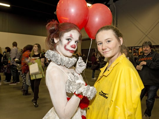 HorrorHound Weekend kicked off on Friday, March 23, 2018, at the Sharonville Convention Center and will run through Sunday. Haley Brinkman and Kylie Nepier of Taylors Mills.
