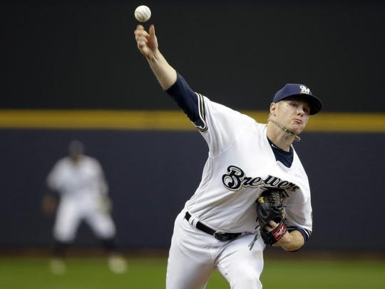 Brewers starting pitcher Chase Anderson has compiled