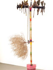 """Windcatcher,"" mixed media and found objects sculpture,"