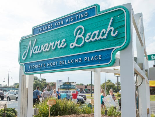 Navarre Beach sign