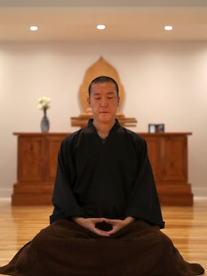 The Center's founder and teacher, Guo Gu, also known as Dr. Jimmy Yu, an Associate Professor of Religious Studies at Florida State University at the Tallahassee Chan Center, Aug. 9, 2017.