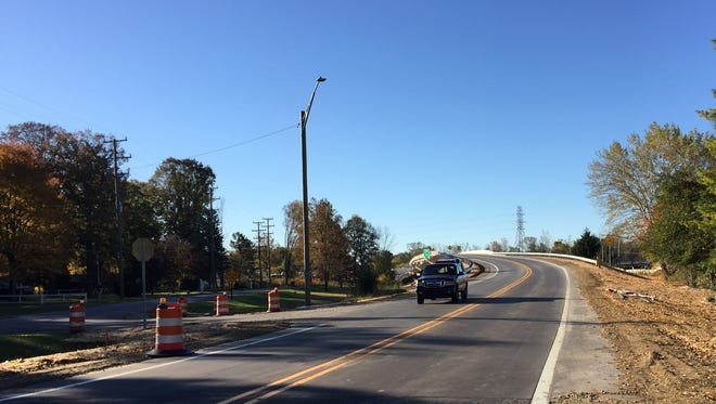 The Michigan Road overpass between Lapeer and Griswold roads has been reopened to traffic.