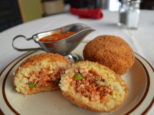 Arancini, Italian rice balls, from Sicily Trattoria.