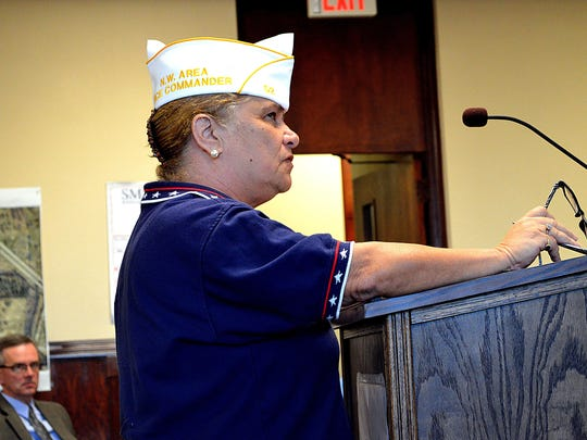 Linda Reed of, first vice commander of American Legion