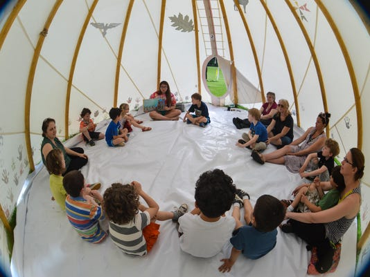 MAIN_Poughkeepsie Day School tipi visit