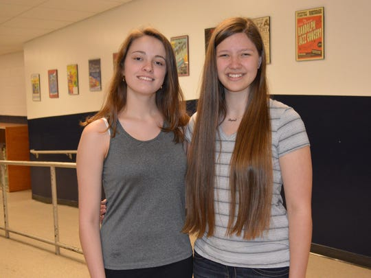Laura Nolan, left, and Regina McElroy, Randolph High School students, were selected for the New Jersey All-State Choir.