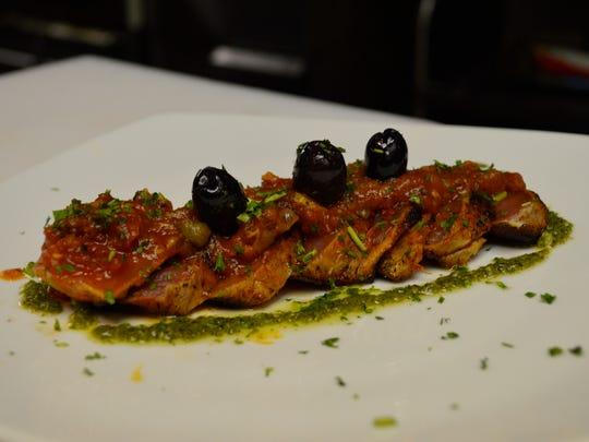 Tuna Picadillo is a tapa served at Gloria's La Trattoria Cafe Napoli in Fort Myers.