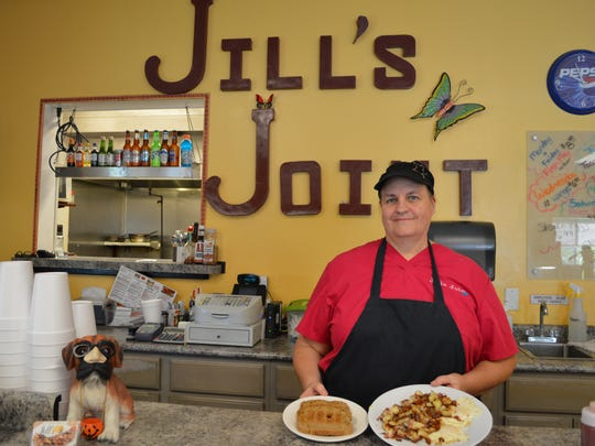 Jill Heinzeroth, owner of Jill's Joint, makes her iconic corned beef hash on a daily basis.