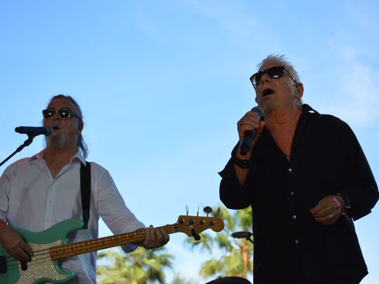 Longtime rockers Eric Burdon and The Animals keep fans on their feet at the Palomino Stage on Sunday afternoon at Stagecoach: California's Country Music Festival.