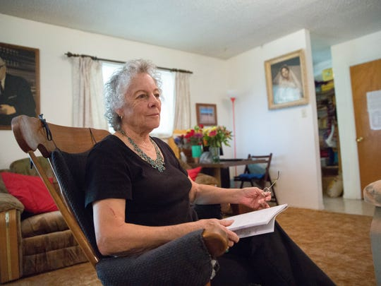 Flavia Pavia talks about her mother, Isabel Valles Uribe, who had her 105th birthday last week. Tuesday October 3,2017