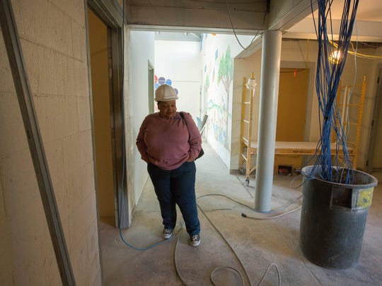 Dr. Constance Wash Chief Medical Officer st lukes health care clinic, look around the clinic during a tour of the on going renovations. Friday January 5, 2018.