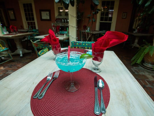 The Turquoise Margarita at Double Eagle in Mesilla.