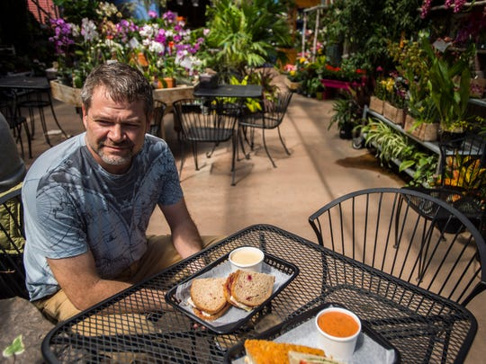 Brian Stone, owner of Garden of Eatin' Cafe at Gardener's Supply in Williston, perhaps has one of the best dinning rooms around, especially in the spring. Surrounded by fresh flowers and plants, diners can enjoy Stone's signature soups and sandwiches or take them outside onto the large patio.