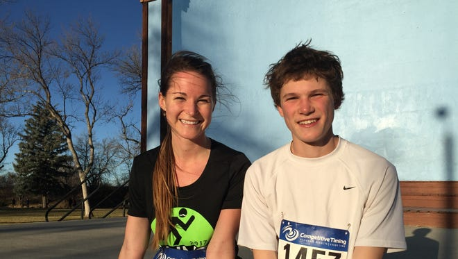 Siblings Keely Baker and Cooper West nabbed first place for the women and men's Burn the Bird 10k race.