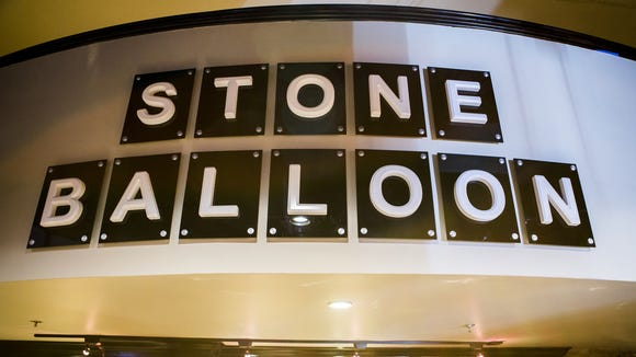 A Stone Balloon sign, re-creating the sign that once