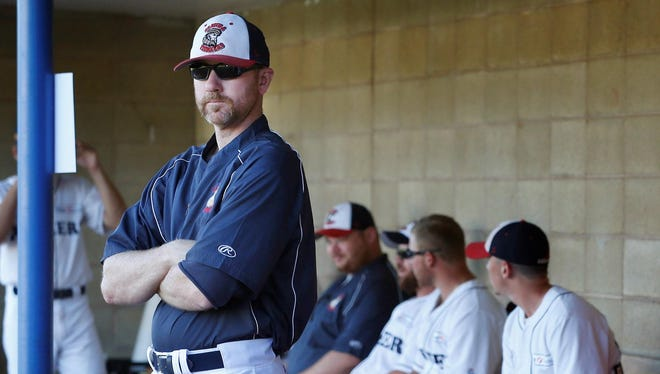 Pioneers manager Matt Burch, shown in 2016, guided Elmira to a record of 113-79 over four seasons during his previous stint as manager.