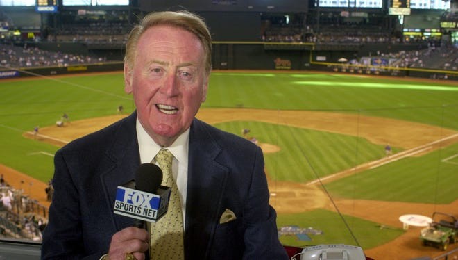Vin Scully is the longest-tenured broadcaster – 67 years - with a single club in professional sports history.