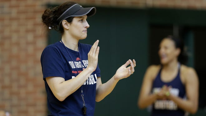 Fever coach Stephanie White during practice at Bankers Life Fieldhouse on May 24, 2016.