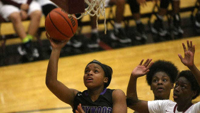 Haywood's Jamirah Shutes (23) puts up a shot against Liberty Tech on Jan. 31, 2017. Shutes averaged 25.0 points, 5.0 rebounds and 3.4 steals per game as a junior.